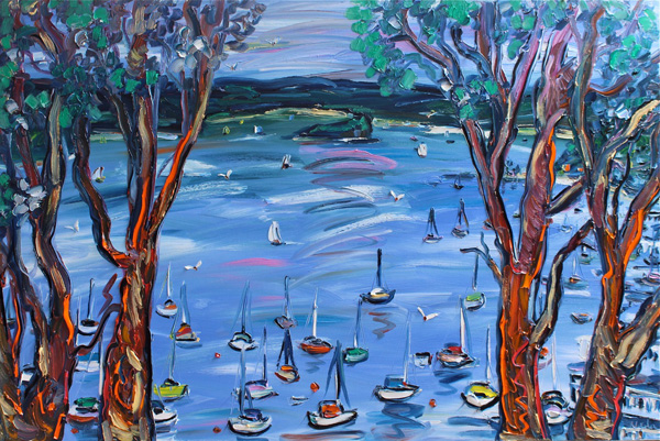 Pittwater Through The Gums 1.5m x 1m