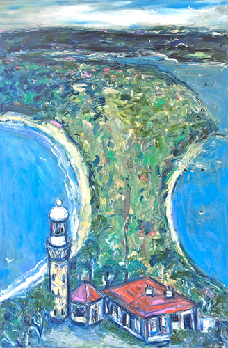 Aerial View of Barrenjoey Lighthouse 1m x 1.5m