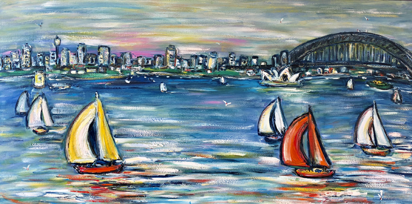 Harbour Sailing 2m x 1m
