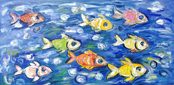 Colourful Fish 1.5m x 90cm